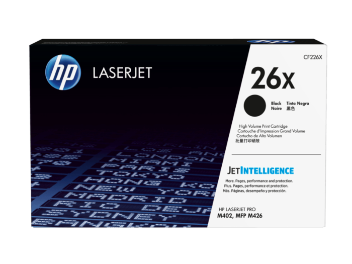 HP 26X 高打印量黑色原廠 LaserJet 碳粉盒