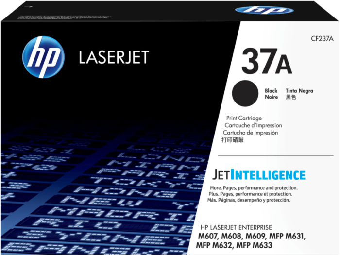 HP 37A 黑色原廠 LaserJet 碳粉匣
