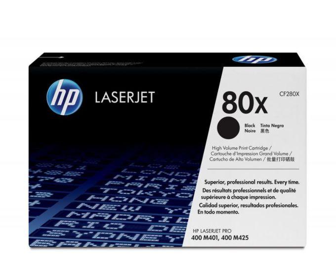 HP 80X 高容量黑色原廠 LaserJet 碳粉盒