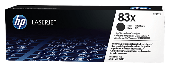 HP 83X 高打印量黑色原廠 LaserJet 碳粉盒