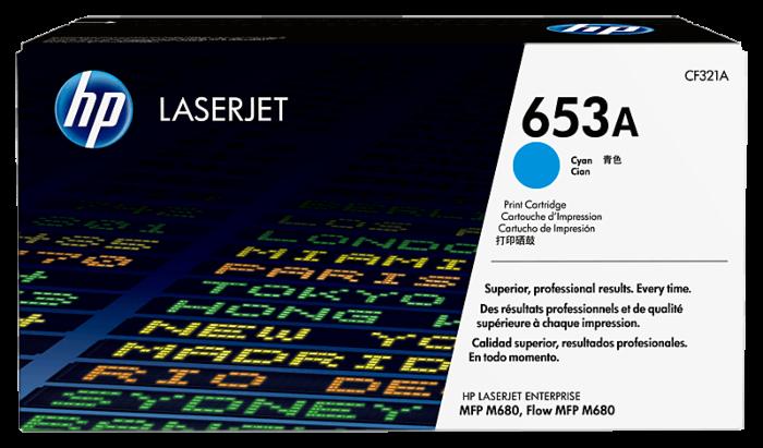 HP 653A 綻藍原廠 LaserJet 碳粉盒