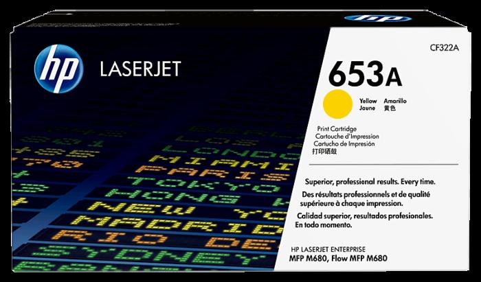 HP 653A 黃色原廠 LaserJet 碳粉盒
