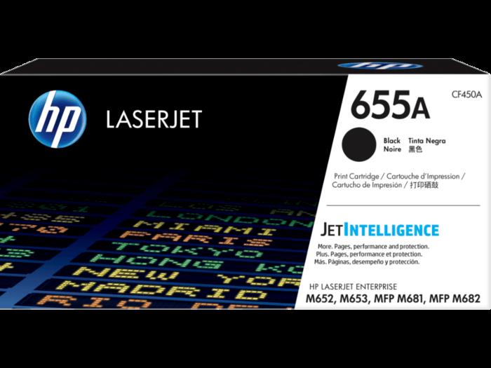 HP 655A 黑色原廠 LaserJet 碳粉匣