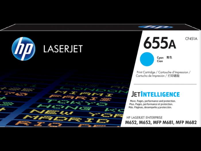 HP 655A 靛藍原廠 LaserJet 碳粉盒