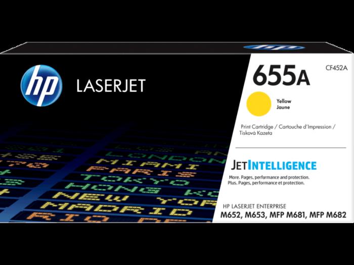 HP 655A 黃色原廠 LaserJet 碳粉盒