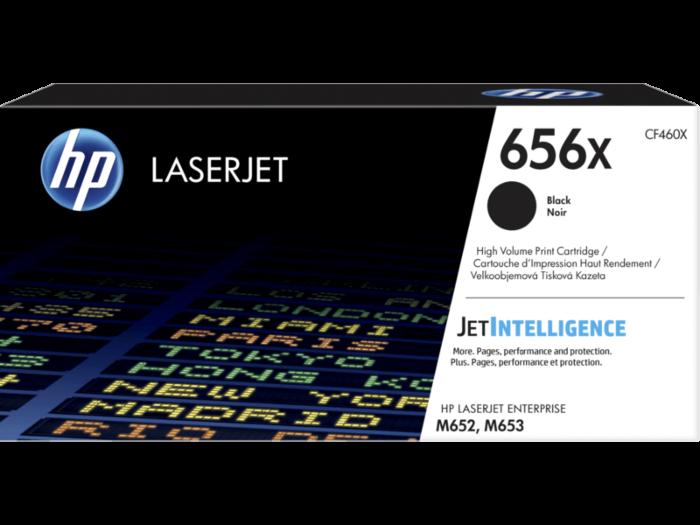 HP 656X 高打印量黑色原廠 LaserJet 碳粉盒