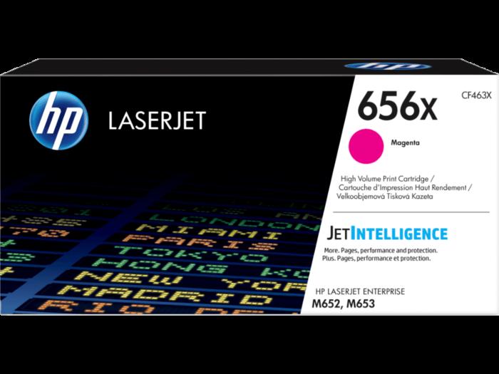 HP 656X 高打印量洋紅原廠 LaserJet 碳粉盒