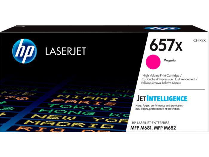 HP 657X High Yield Magenta Original LaserJet Toner Cartridge