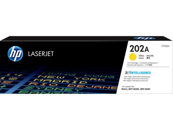 HP 202A 黃色原廠 LaserJet 碳粉匣