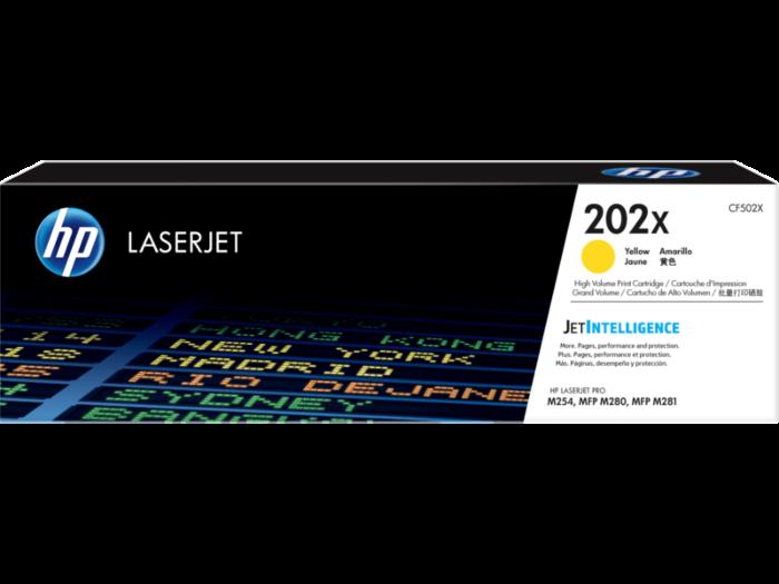 HP 202X 高打印量黃色原廠 LaserJet 碳粉匣
