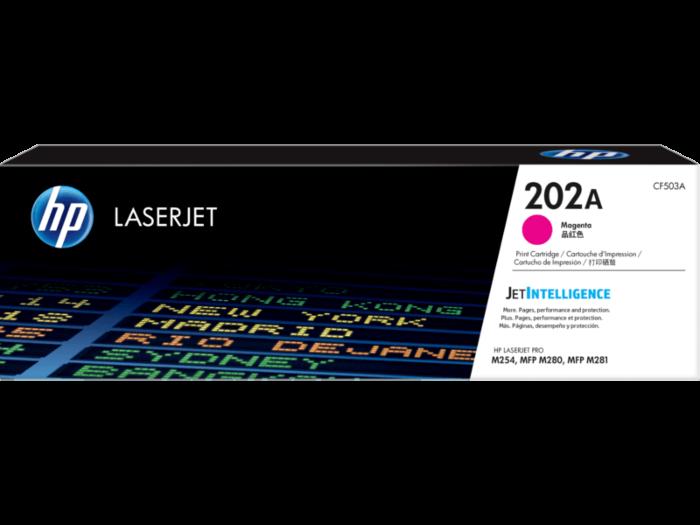 HP 202A 洋紅色原廠 LaserJet 碳粉匣