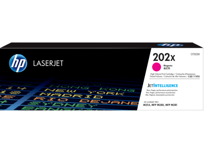 HP 202X 高打印量洋紅色原廠 LaserJet 碳粉匣