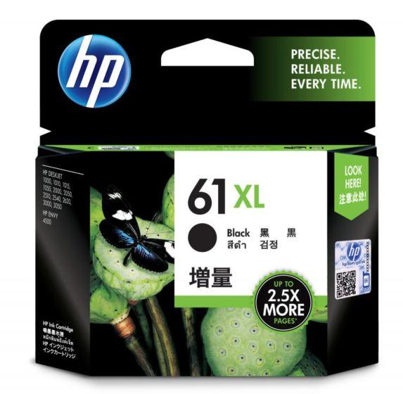 HP 61XL 高容量黑色原廠墨盒
