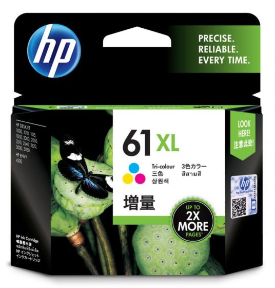 HP 61XL 高容量三色原廠墨盒