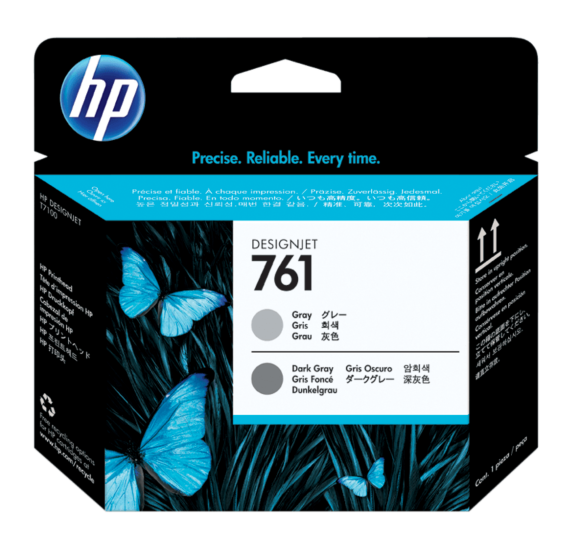 HP 761 Gray/Dark Gray DesignJet Printhead