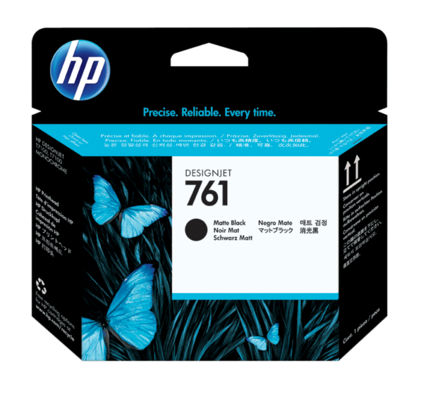 HP 761 DesignJet 霧面黑/霧面黑打印頭
