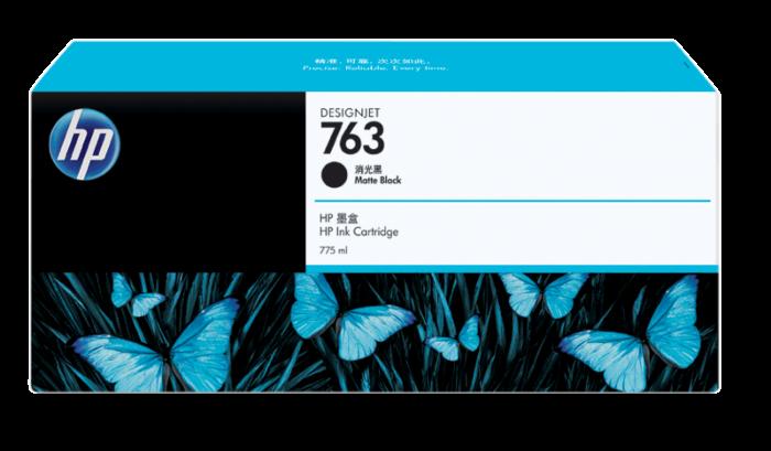 HP 763 DesignJet 775 毫升霧面黑墨盒