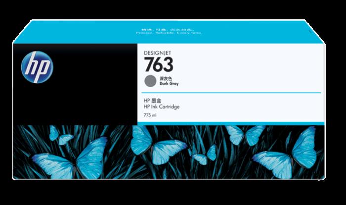 HP 763 775-ml Dark Gray DesignJet Ink Cartridge