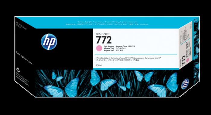 HP 772 DesignJet 300 毫升淺洋紅墨盒