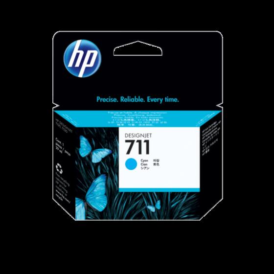 HP 711 29 毫升青色 DesignJet 墨盒