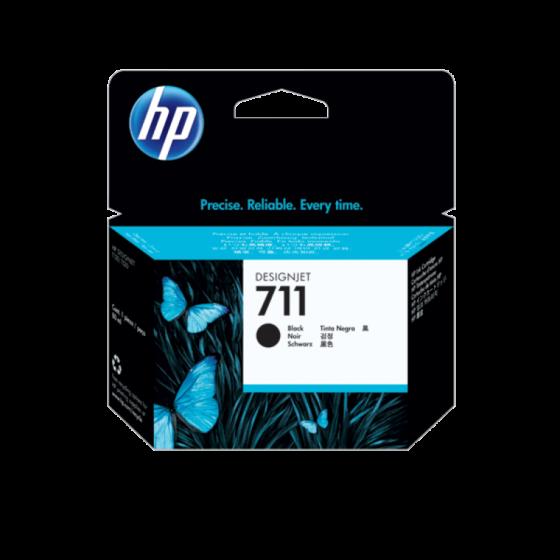 HP 711 80 毫升黑色 DesignJet 墨盒