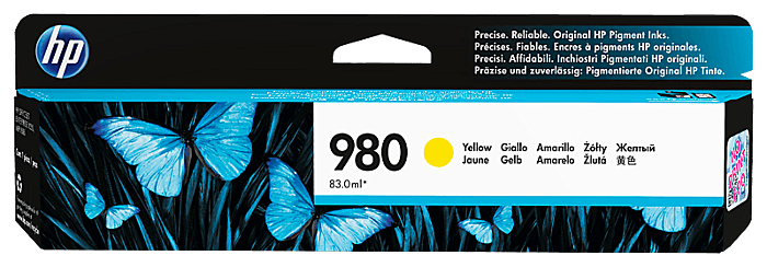 HP 980 黃色原廠墨盒