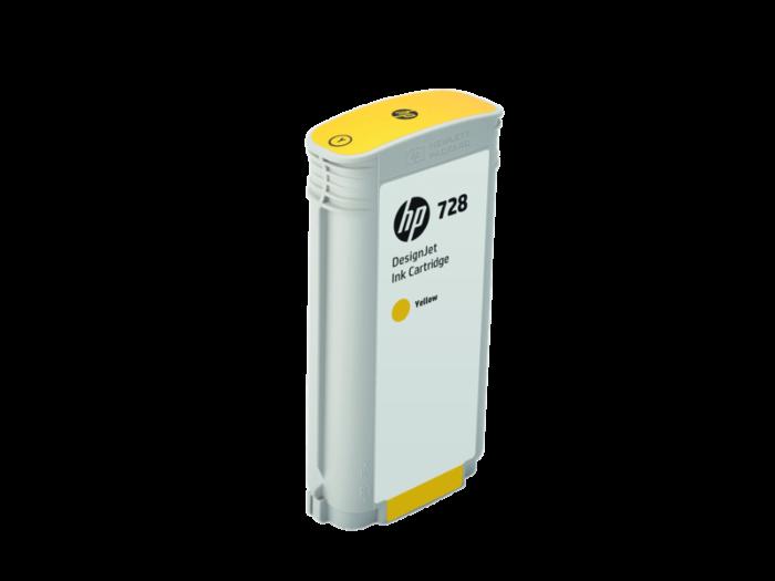 HP 728 130 ml 黃色 DesignJet 墨水盒
