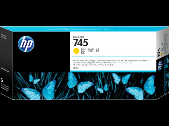 HP 745 DesignJet 300 毫升黃色墨盒