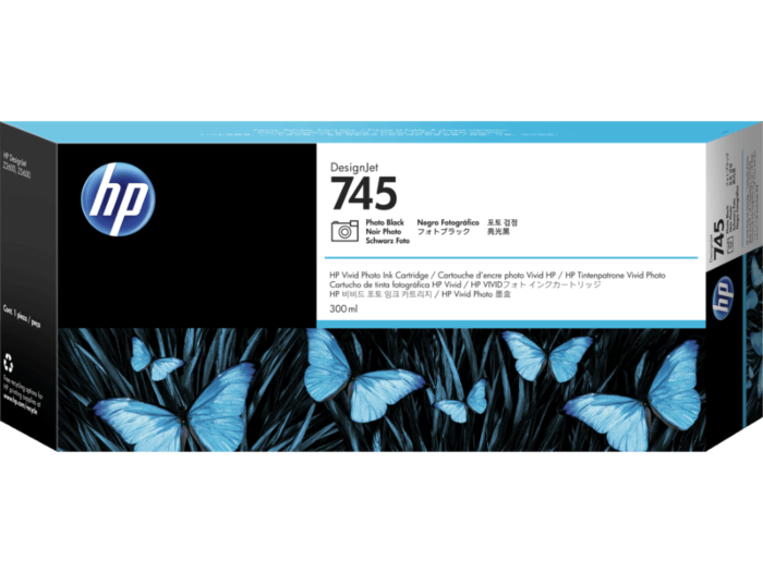 HP 745 DesignJet 300 毫升相片黑墨盒