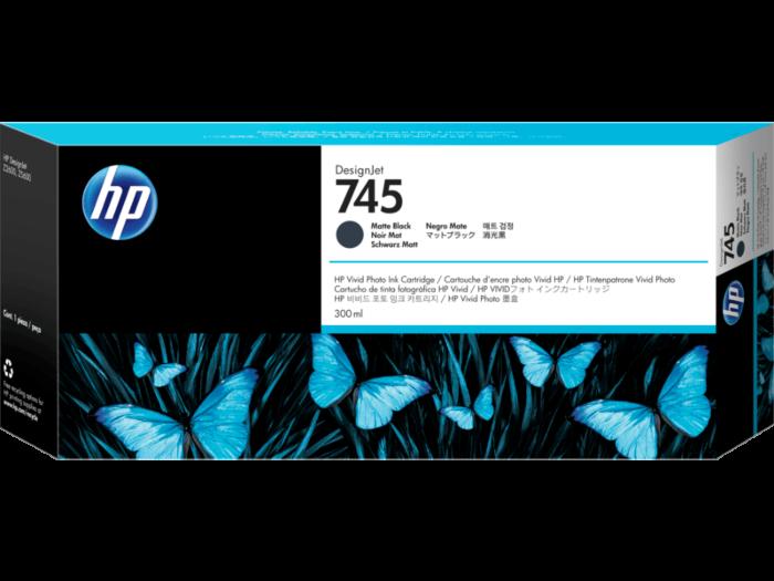 HP 745 DesignJet 300 毫升霧面黑墨盒