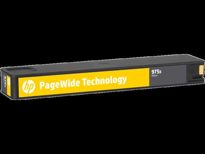 HP 975X 高打印量黃色原廠 PageWide 墨盒