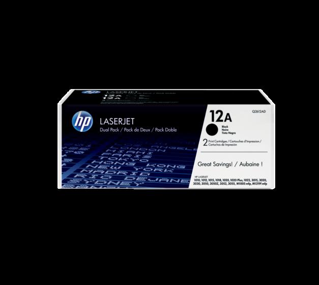HP 12A LaserJet 黑色原廠碳粉匣 2 個裝