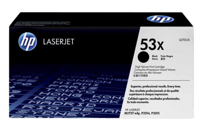 HP 53X 高容量黑色原廠 LaserJet 碳粉盒
