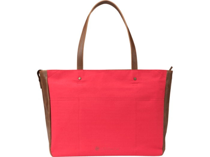 HP 14 Red/Brown Women Canvas Tote