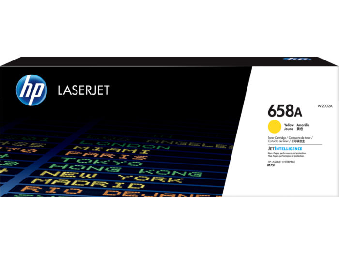 HP 658A LaserJet 黃色原廠碳粉匣