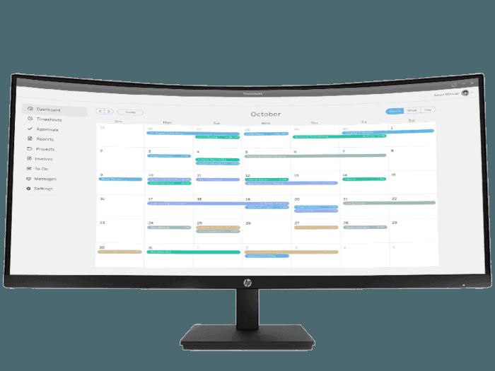HP P34hc G4 WQHD USB-C Curved Monitor