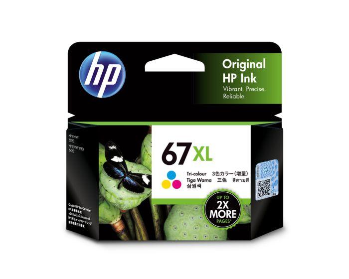 HP 67XL High Yield Tri-color Original Ink Cartridge