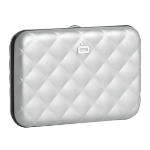 OGON Quilted Button Wallet (silver)