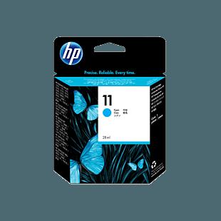 HP 11 綻藍原廠墨盒