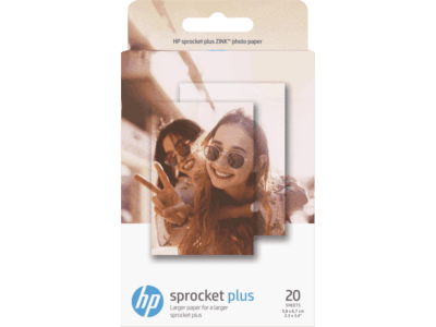 HP Sprocket Plus 相紙 – 20 張貼紙相紙/ 2.3 x 3.4 吋