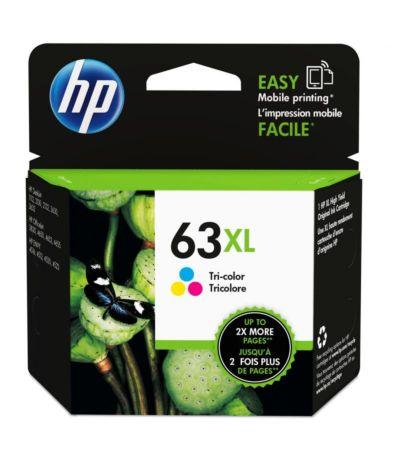 HP 63XL 高打印量三色原廠墨盒
