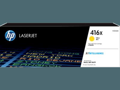 HP 416X LaserJet 高打印量黃色原廠碳粉匣