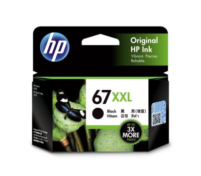 HP 67XXL 超高打印量黑色原廠墨盒