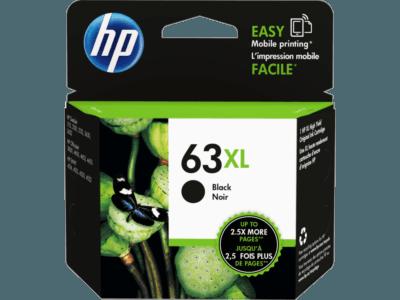 HP 63XL 高打印量黑色原廠墨盒