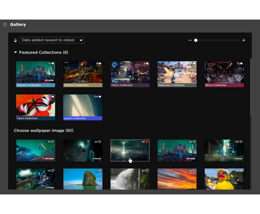 OMEN Gaming Hub 圖庫集合一系列桌布,讓玩家讚好、下載或設為背景