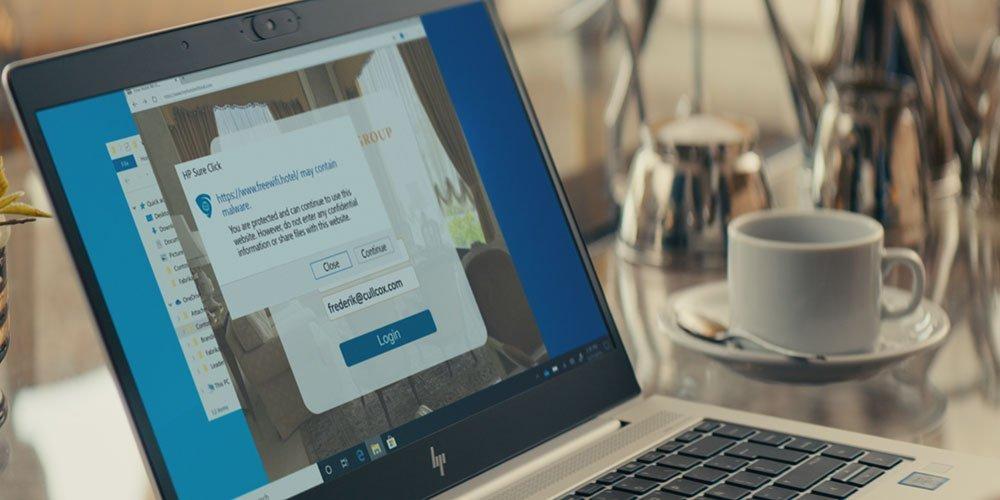 使用HP Sure登录到不受信任的wi-fi连接时,弹出通知被阻止